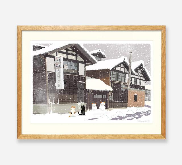 イラストフレーム(41.雪の酒蔵)の画像1枚目