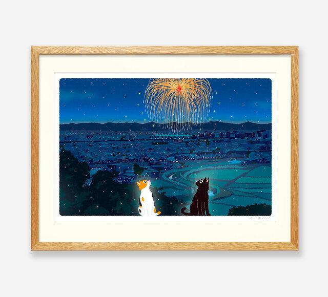 イラストフレーム(42.夏の打ち上げ花火)の画像1枚目