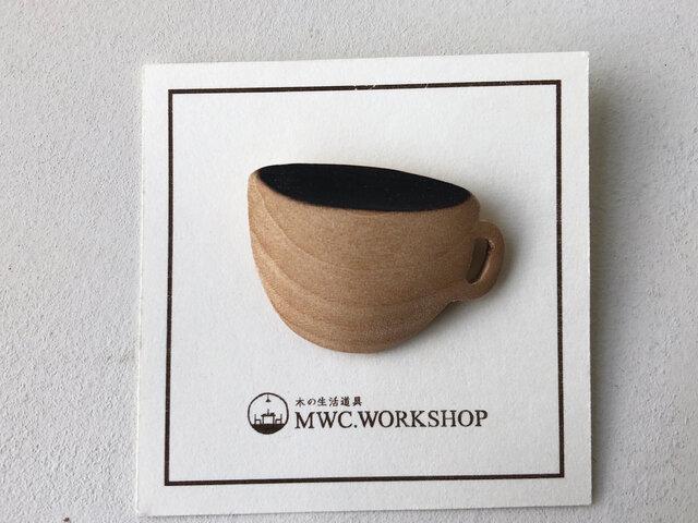 ティーカップのブローチの画像1枚目