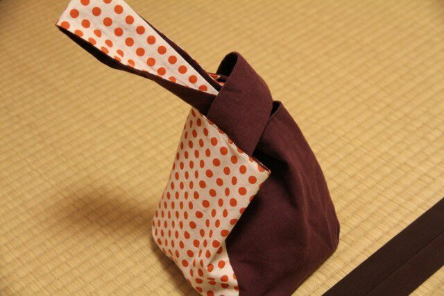 豆絞り 手提げ袋の画像1枚目