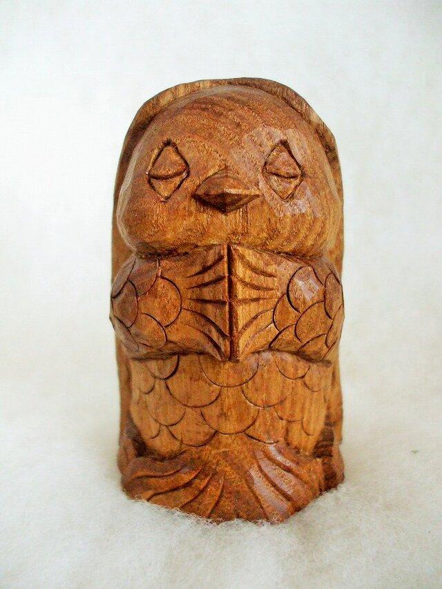 ★祈りのアマビエ・木彫り置物★再出品★コロナ退散守護妖怪★の画像1枚目