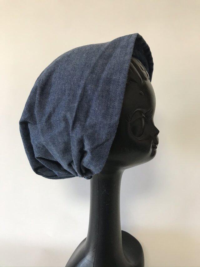 ターバン風帽子 Sサイズ (ダンガリー生地)の画像1枚目
