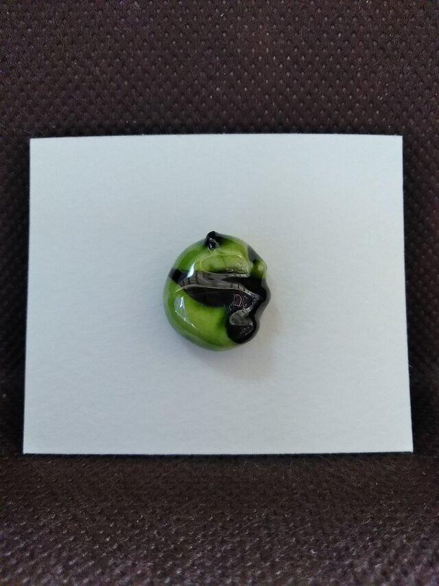 動物石 ピンズ パンダ(緑色)の画像1枚目