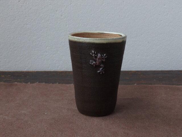 かえるフリーカップ(黒)の画像1枚目
