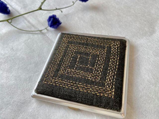 コンパクトミラー ブロックチョコレートの画像1枚目
