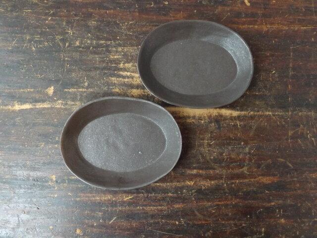 ゆるり楕円鉢(黒)の画像1枚目