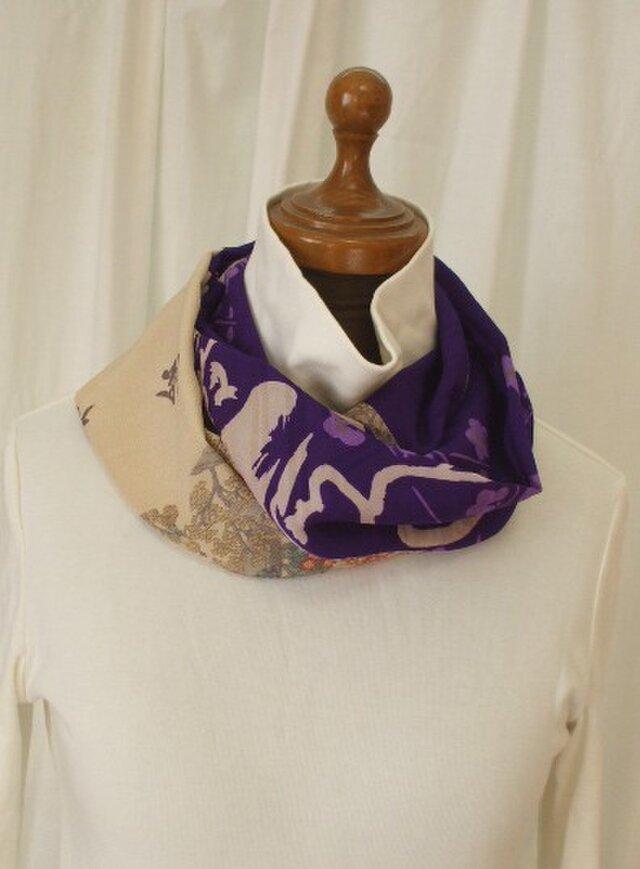 アンティーク着物からのスヌード 絹の画像1枚目