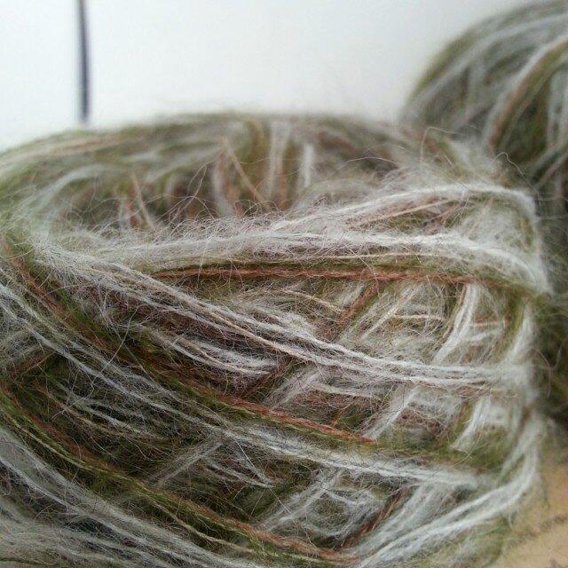 【森林】ハンドメイド引き揃え糸カシミアウールキッドモヘア毛糸の画像1枚目