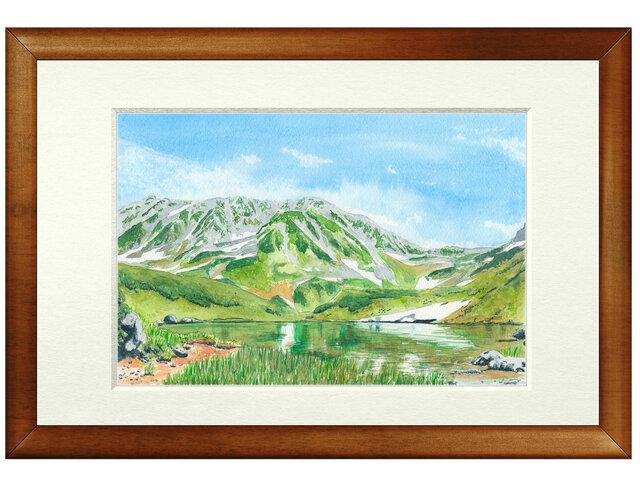 世界で1枚の絵 水彩画原画「立山室堂」の画像1枚目
