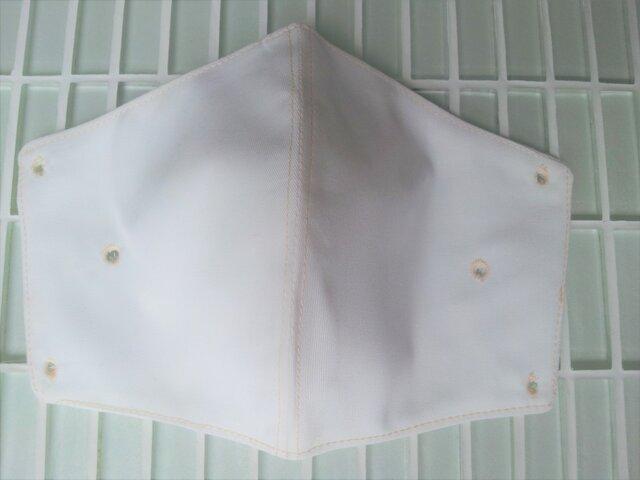 マスククリップ オフホワイト 合皮 立体 布フィルター付きの画像1枚目