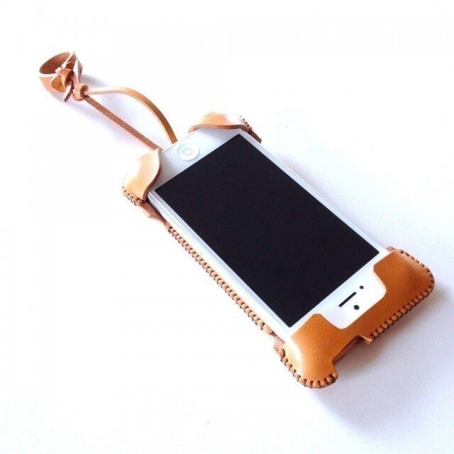 iPhone 5s cawa wallet jacket+/飴色の画像1枚目