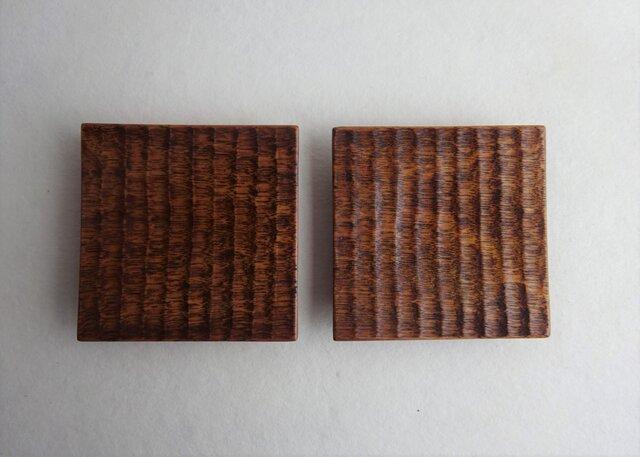 西南桜の角小皿(2枚セット)の画像1枚目