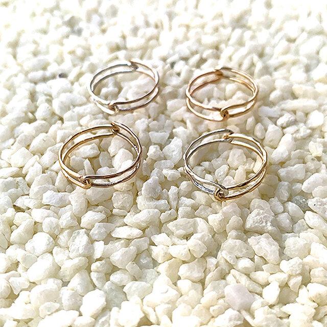 Kasane指輪 10金イエローゴールド X 10金ピンクゴールドの画像1枚目