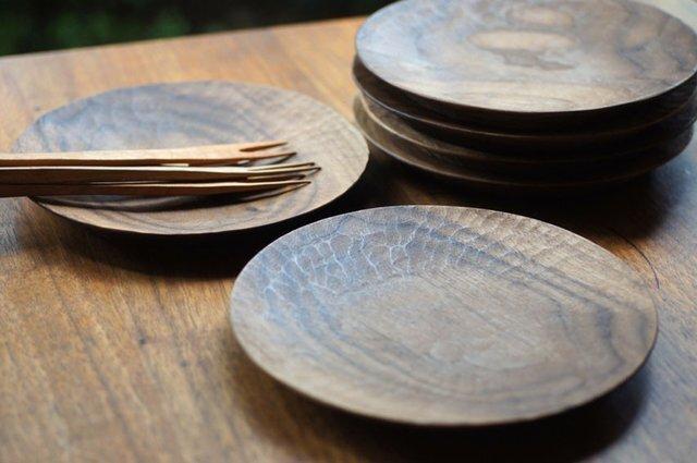 丸皿(Φ180)ウォールナットの画像1枚目