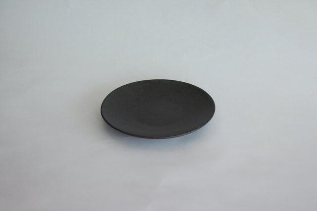 シンプルな丸皿 黒 5寸14cmの画像1枚目