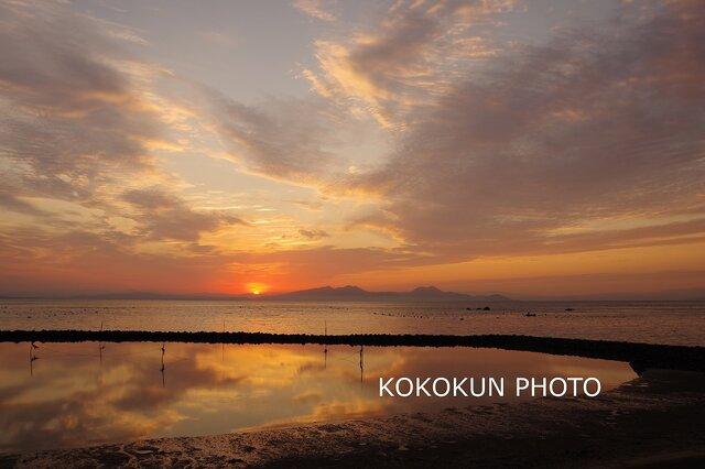 有明海の朝の風景10「ポストカード5枚セット」の画像1枚目