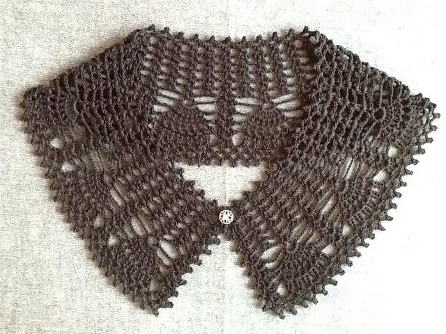 レース編み*つけ襟の画像1枚目
