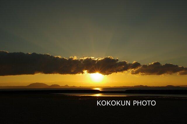 有明海の朝の風景13「ポストカード5枚セット」の画像1枚目
