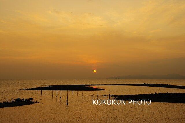 有明海の朝の風景15「ポストカード5枚セット」の画像1枚目