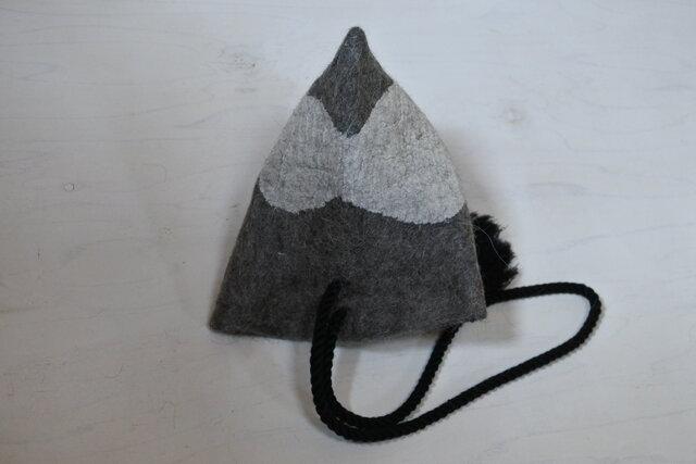 wool と cottonでつくられた 3way テトラbag 4.の画像1枚目