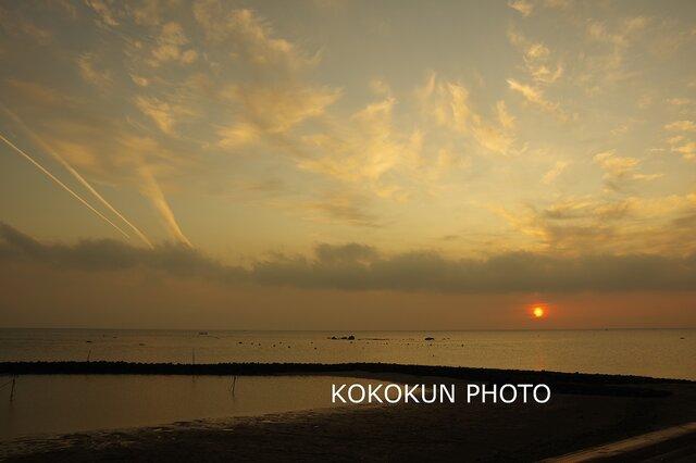 有明海の朝の風景16「ポストカード5枚セット」の画像1枚目