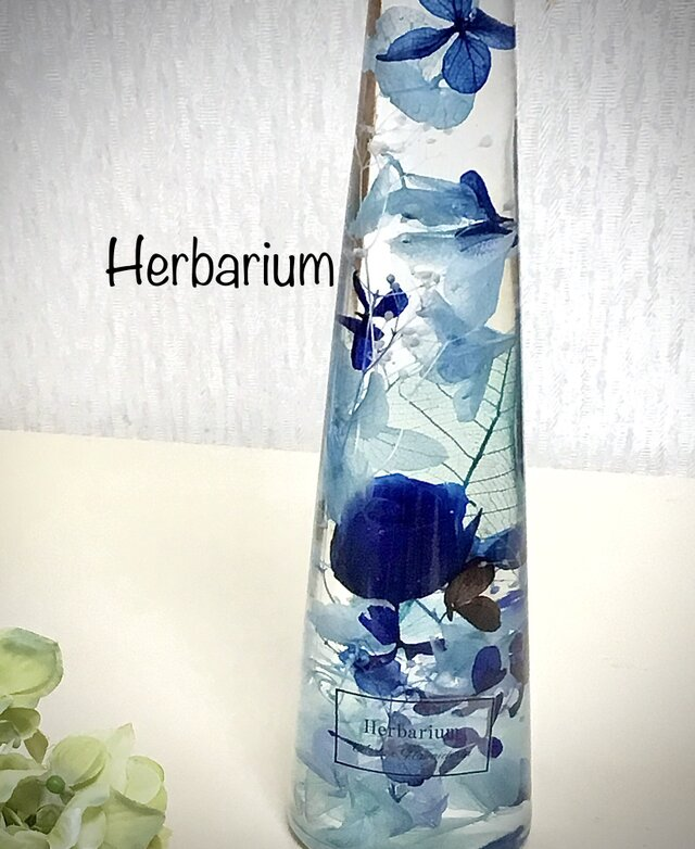 ハーバリウム Blue bottleの画像1枚目