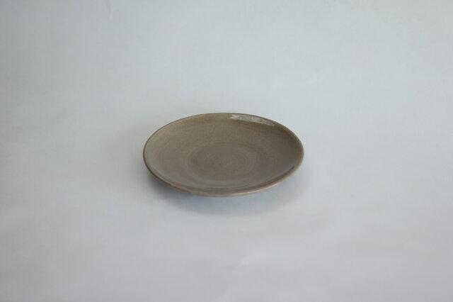 シンプルな丸皿 グレージ 5寸14cmの画像1枚目