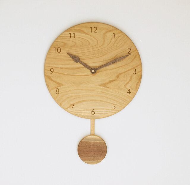 木製 振り子時計 栗材11の画像1枚目