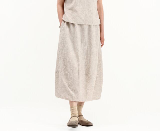 オールゴムバルーンスカート(ベイジュ)#317の画像1枚目