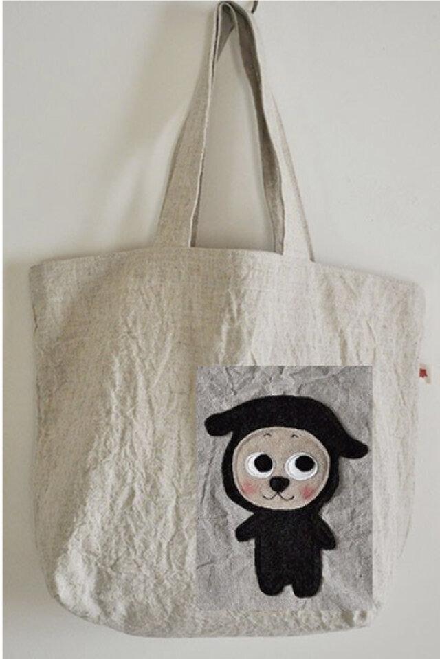 ハルさま 特注:ハンゾーお買い物バッグの画像1枚目