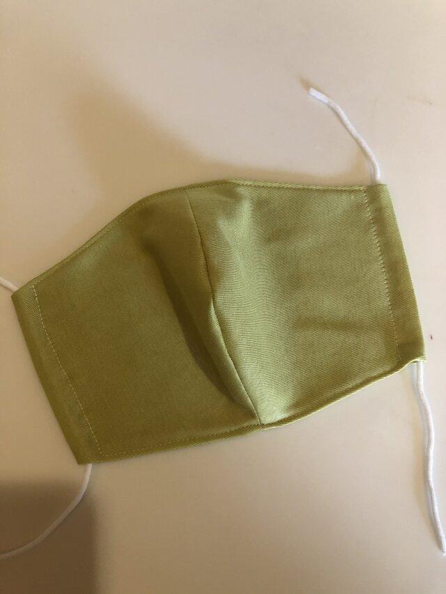 夏用ひんやりマスク 冷感素材クールマーベラス ライトグリーンの画像1枚目