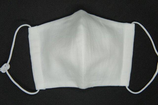 【ダブルガーゼの立体布マスク】《大人用》白の画像1枚目