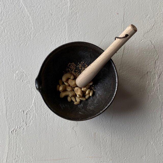 灰釉 当り鉢4寸の画像1枚目