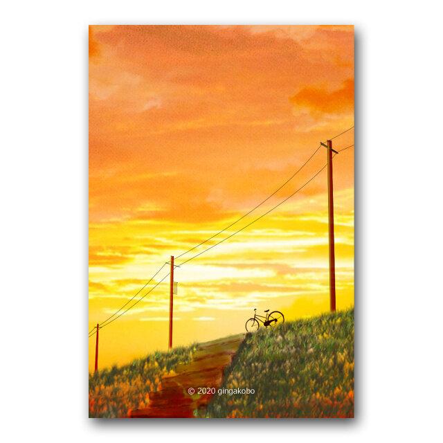 「ココロがゆれた日」 ほっこり癒しのイラストポストカード2枚組 No.1064の画像1枚目