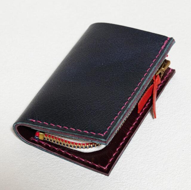 【受注生産】キャッシュレス生活に便利なミニ財布(ラクダ革製)の画像1枚目