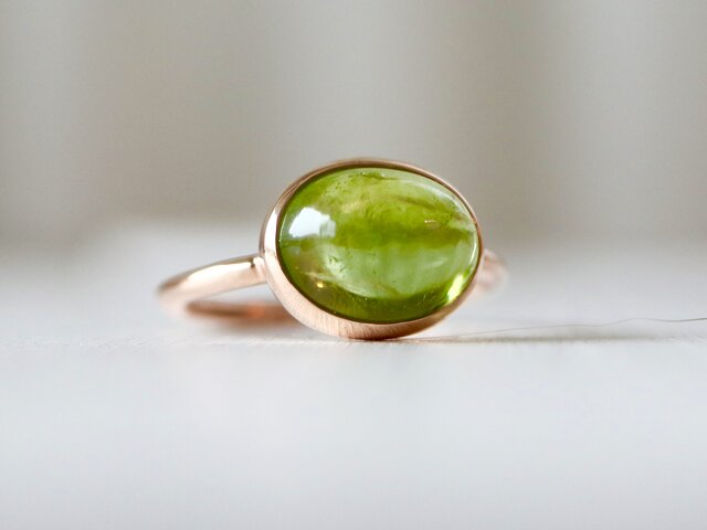 K10[夏摘みオリーブのペリドット]ringの画像1枚目