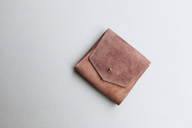 スクエア財布 BROWN (山羊革ヌバック)の画像1枚目