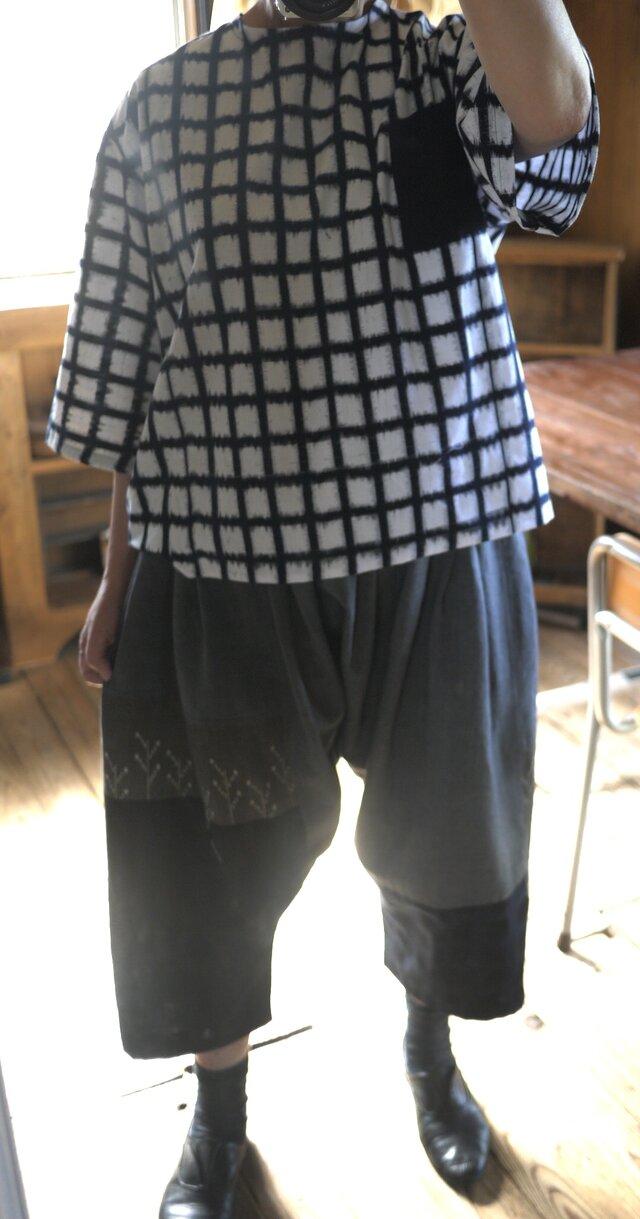 久留米絣反物からトップスの画像1枚目