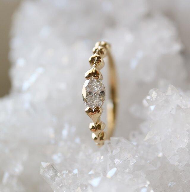 マーキスダイヤ指輪の画像1枚目