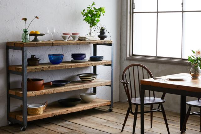 [造船古材] 収納棚:Vintage Shelf(※オーダーメイド対応可)【受注生産】の画像1枚目