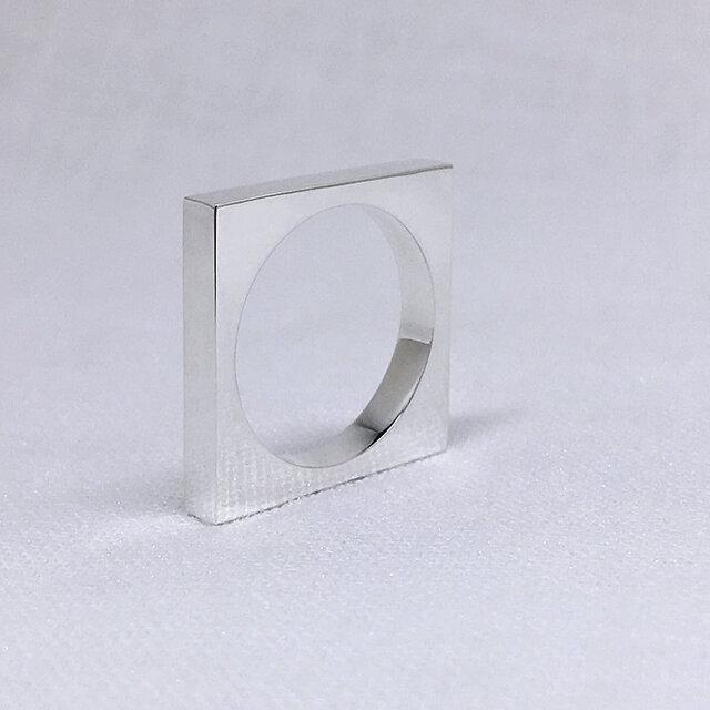 スクエア(四角形)のシルバーリングの画像1枚目