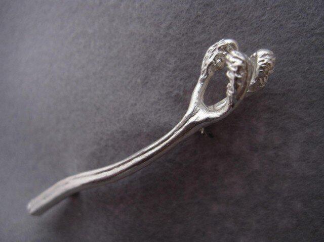 Silver わらび ブロ-チの画像1枚目
