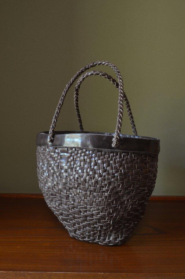 Leather Basket Bag  【Large】の画像1枚目