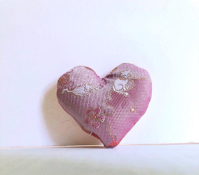 祈りの匂い袋〜香りむすび〜 ハート香 ピンク猫の画像1枚目