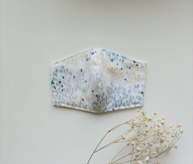 夏色マスク ふんわり薄地ダブルガーゼ(グレーグリーン柄)受注制作の画像1枚目