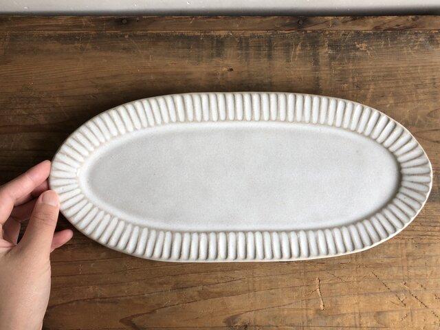 長皿 糠白の画像1枚目