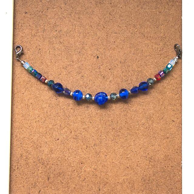 羽織紐「青の螺旋」の画像1枚目