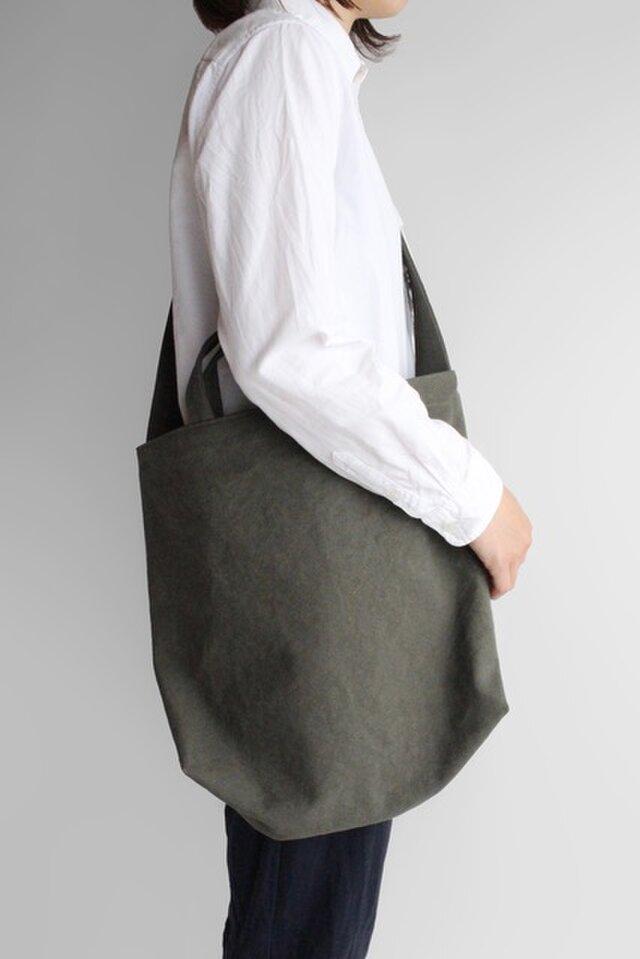 やさしい布のショルダーバッグ【柳】帆布の画像1枚目