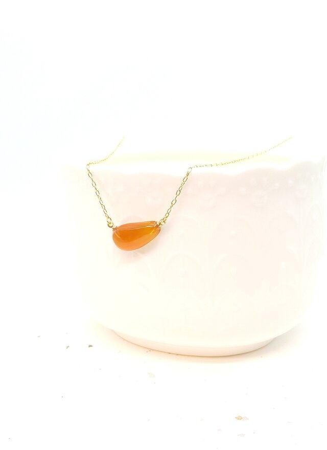 本べっ甲 オレンジ甲ネックレスの画像1枚目