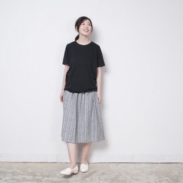 S0006D  らしか×yohaku スカート 唐松草(白)の画像1枚目